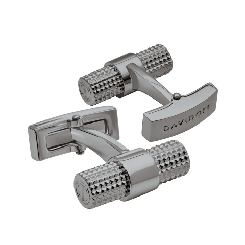 PARIS Cufflinks Barrel - Gun Metal
