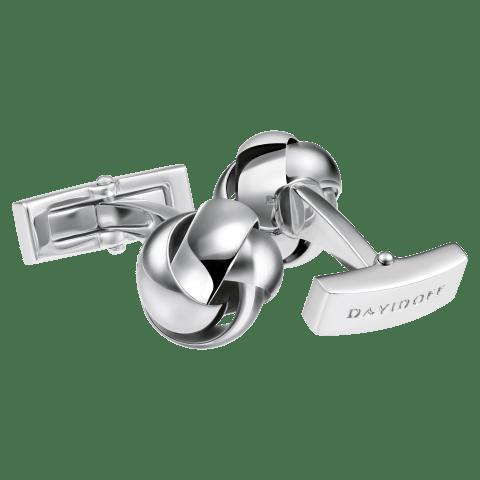 DAVIDOFF ESSENTIALS Cufflinks - Knot - Rhodium