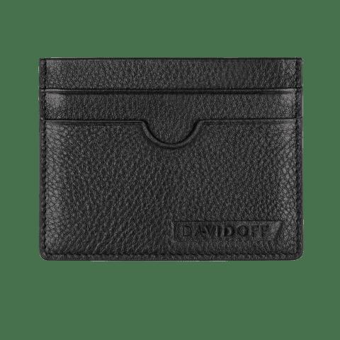 DAVIDOFF TRACES credit card holder black