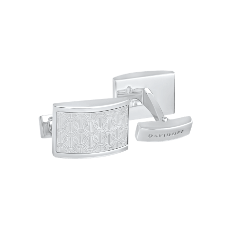 ZINO Cufflinks Half moon - Rhodium
