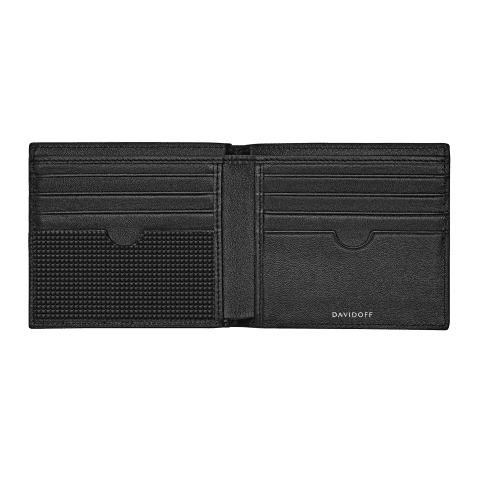 PARIS Wallet 8CC + 2 Pockets - Black