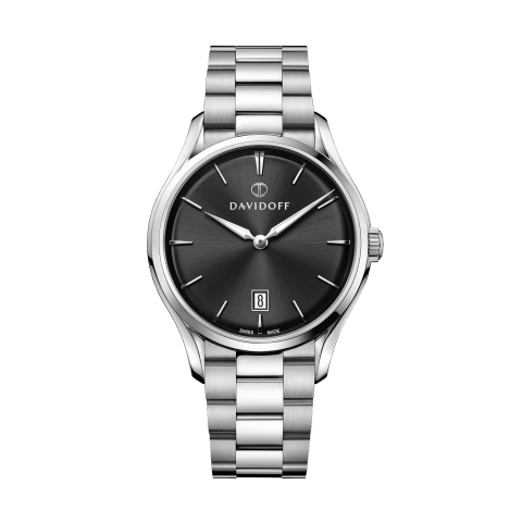 ESSENTIALS No. 1 Black - Silver / Bracelet