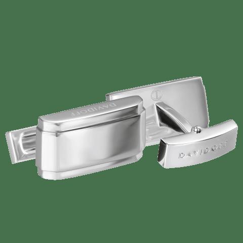 DAVIDOFF ESSENTIALS cufflinks rectangle rhodium