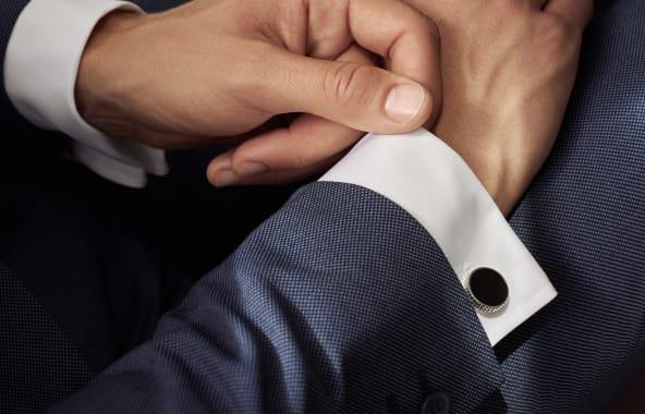 The PARIS cufflinks in more formal black