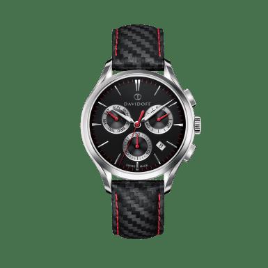 ESSENTIALS No. 1 Chronograph Black - Silver / Leather