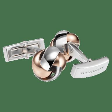ESSENTIALS Cufflinks - Knot - Rose Gold/Rhodium