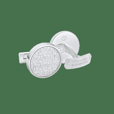 ZINO Cufflinks Round - Rhodium