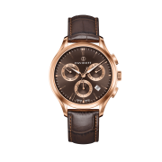 Essentials No. 1 Chronograph  - Brown - Rose Gold / Leather