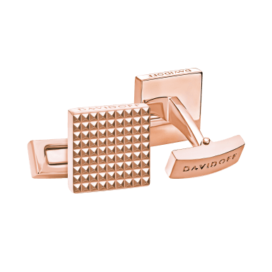 PARIS Cufflinks Square - Rose Gold