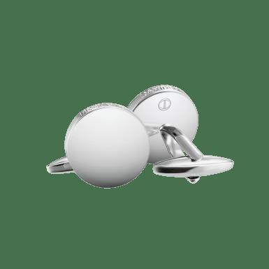 ESSENTIALS Cufflinks - Round - Rhodium