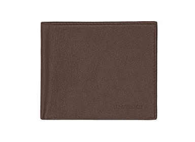 ESSENTIALS Wallet  - 5CC + 2 Pockets & Coin - Brown