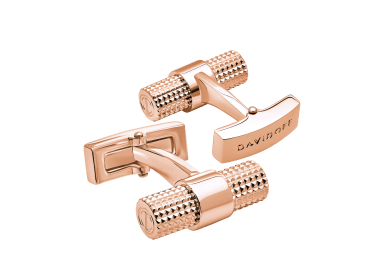 PARIS Cufflinks  - Barrel - Rose Gold