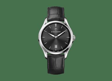 ESSENTIALS No. 1  - Black - Silver / Leather