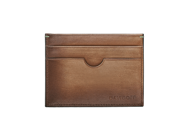 VENICE Credit Card Holder  - 4CC + 1 Pocket - Cognac
