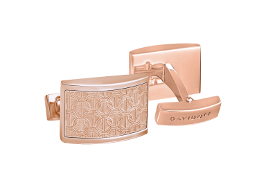 ZINO Cufflinks Half moon - Rose Gold