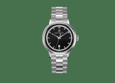 ESSENTIALS No. 2 Black - Silver / Bracelet