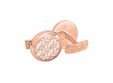 ZINO Cufflinks Round - Rose Gold / White