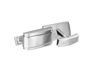 ESSENTIALS Cufflinks  - Rectangle - Rhodium