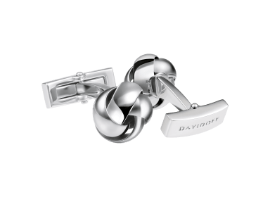 DAVIDOFF ESSENTIALS Cufflinks - Knot - Rhodium