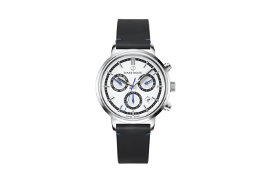 ESSENTIALS No.2 Chronograph  - White - Silver / Leather
