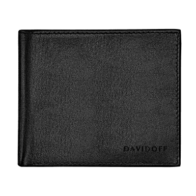 ESSENTIALS Wallet 5CC + 2 Pockets & Coin - Black