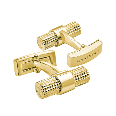 PARIS Cufflinks Barrel - Light Gold