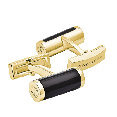 ESSENTIALS Cufflinks Barrel - Light Gold / Black
