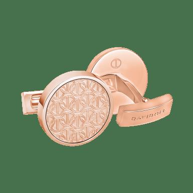 ZINO Cufflinks Round - Rose Gold