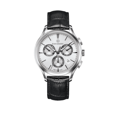 ESSENTIALS No. 1 Chronograph Silver - Silver / Leather