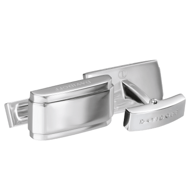 DAVIDOFF ESSENTIALS cufflinks rectangle rhodium