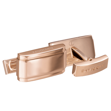 DAVIDOFF ESSENTIALS Cufflinks Rectangle Rose Gold
