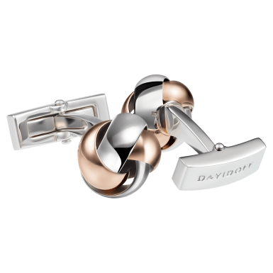 ESSENTIALS Cufflinks - Knot - Rose Gold/Rhodium