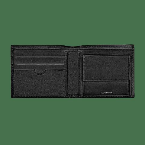 ESSENTIALS Wallet 5CC + 2 Pockets & Coin - Black