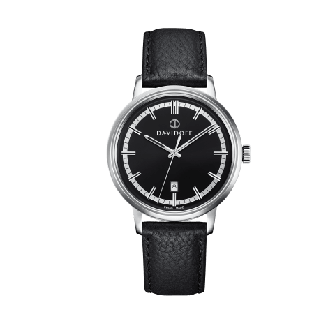 ESSENTIALS No. 2 Black - Silver / Leather