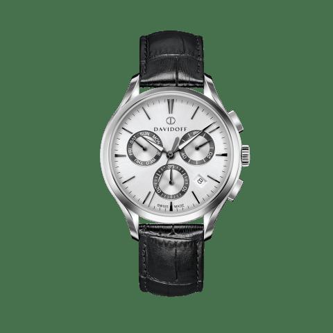 ESSENTIALS No. 1 Chronograph Silver - Silver / Leather