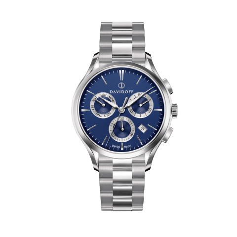 ESSENTIALS No. 1 Chronograph Blue - Silver / Bracelet