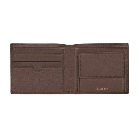 ESSENTIALS Wallet 5CC + 2 Pockets & Coin - Brown