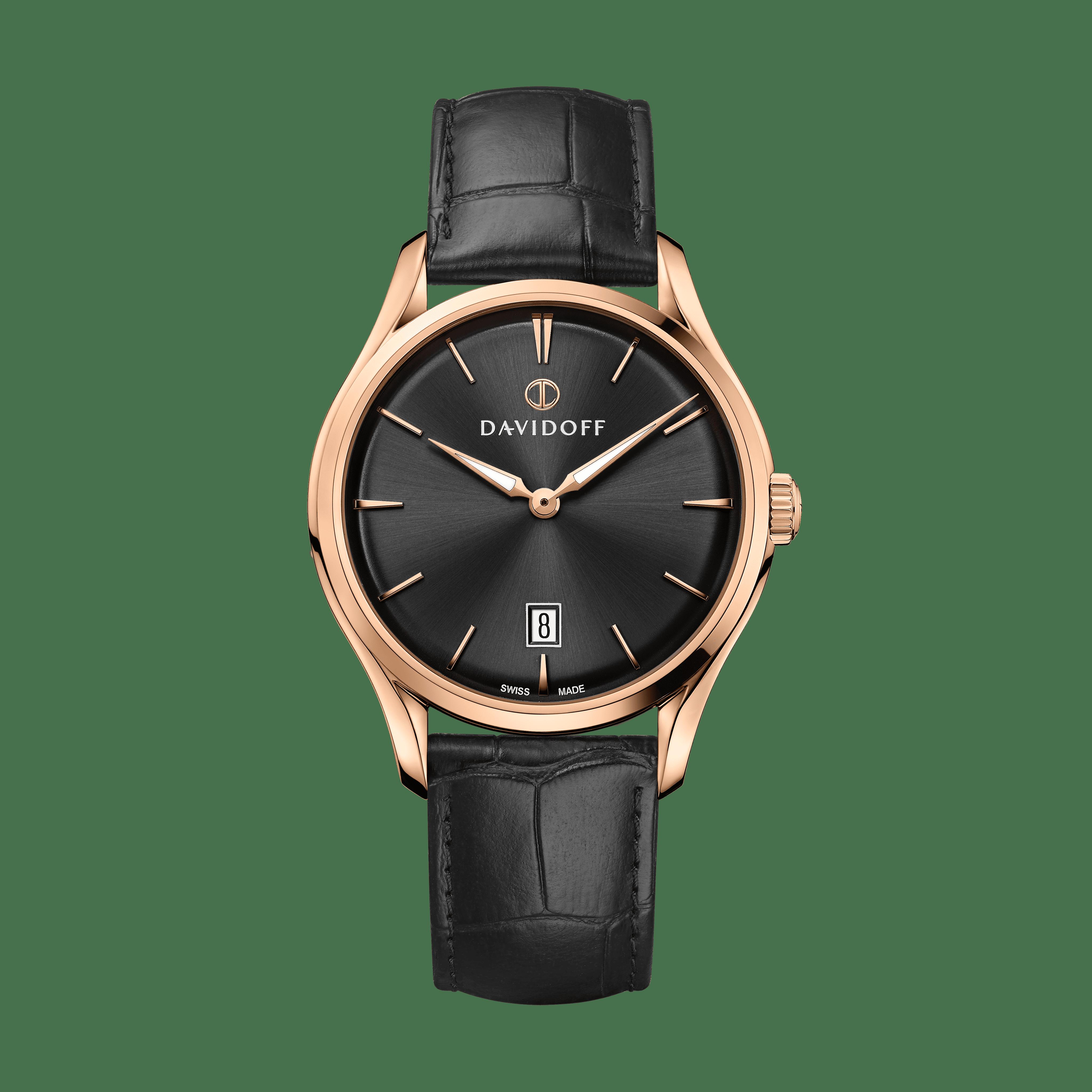 ESSENTIALS No. 1 Black - Rose Gold / Leather