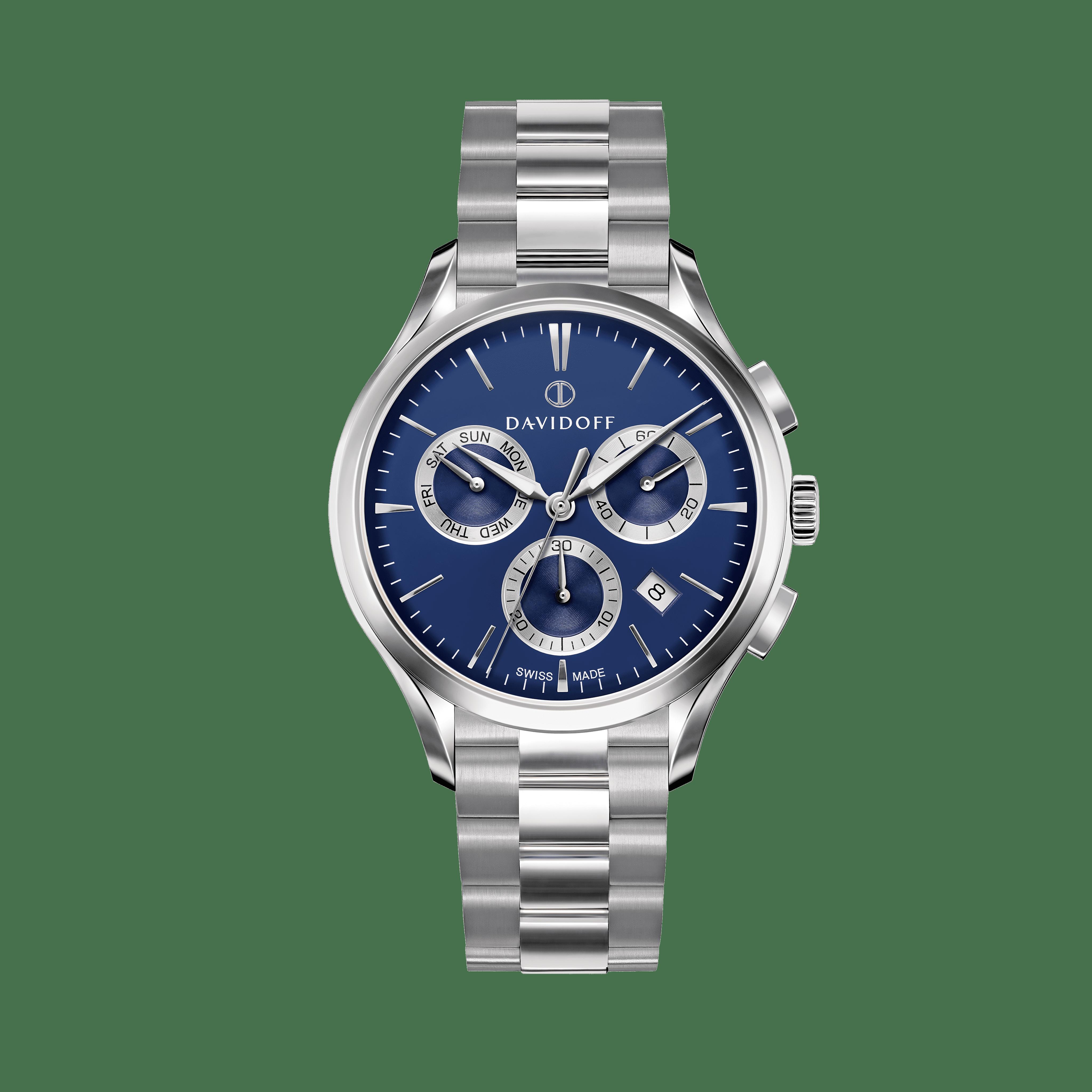 ESSENTIALS No. 1 Chronograph Blue - Silver / Bracelet