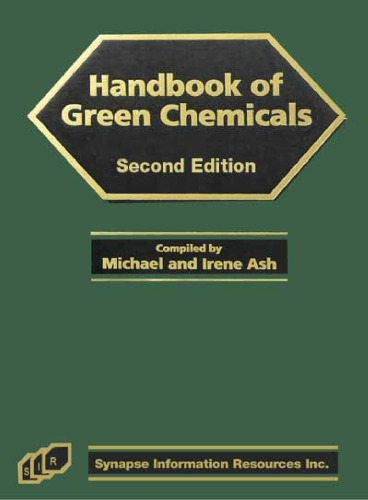 [PDF] - Handbook of Green Chemicals (2nd Edition) Ebook