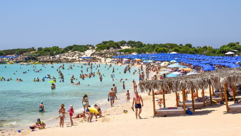 Best party island world Ayia Napa Cyprus Sunbathers