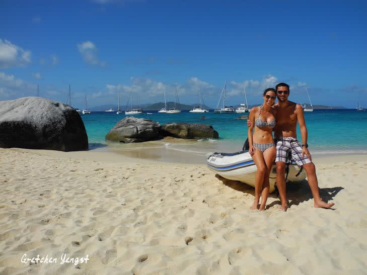 Romantic couple beach sailing holidays sailing blog