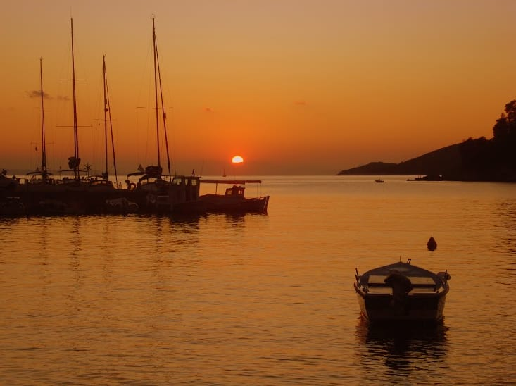 sailing in the sporades