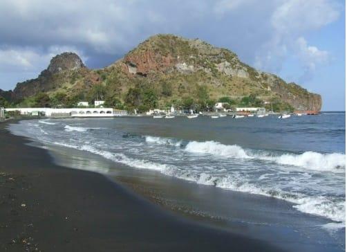 black sand beaches
