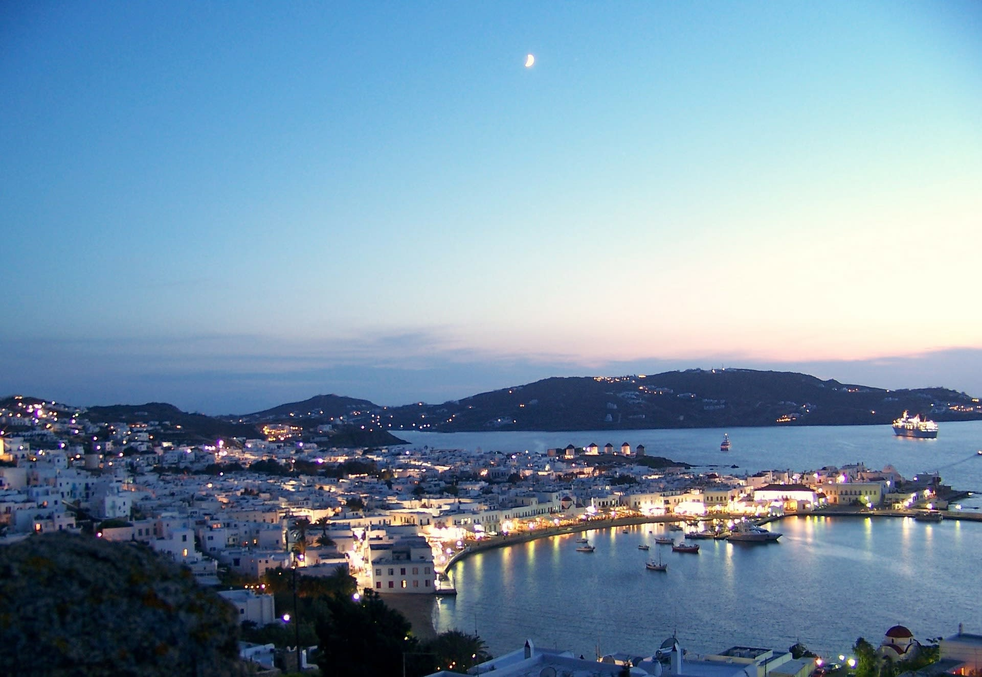 Best Party Islands World Mykonos Greece Ocean Dusk