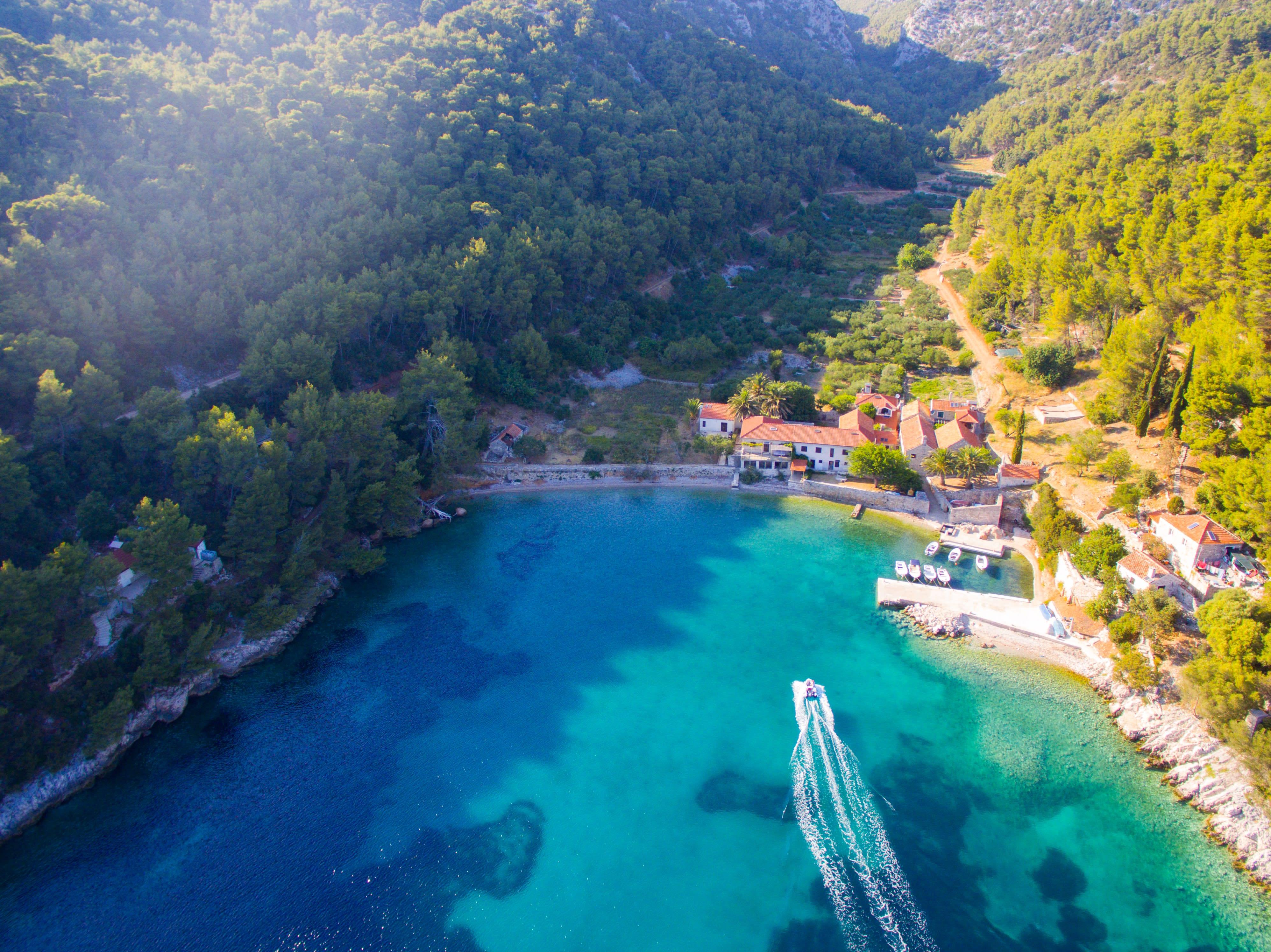hvar croatia boat trip blue