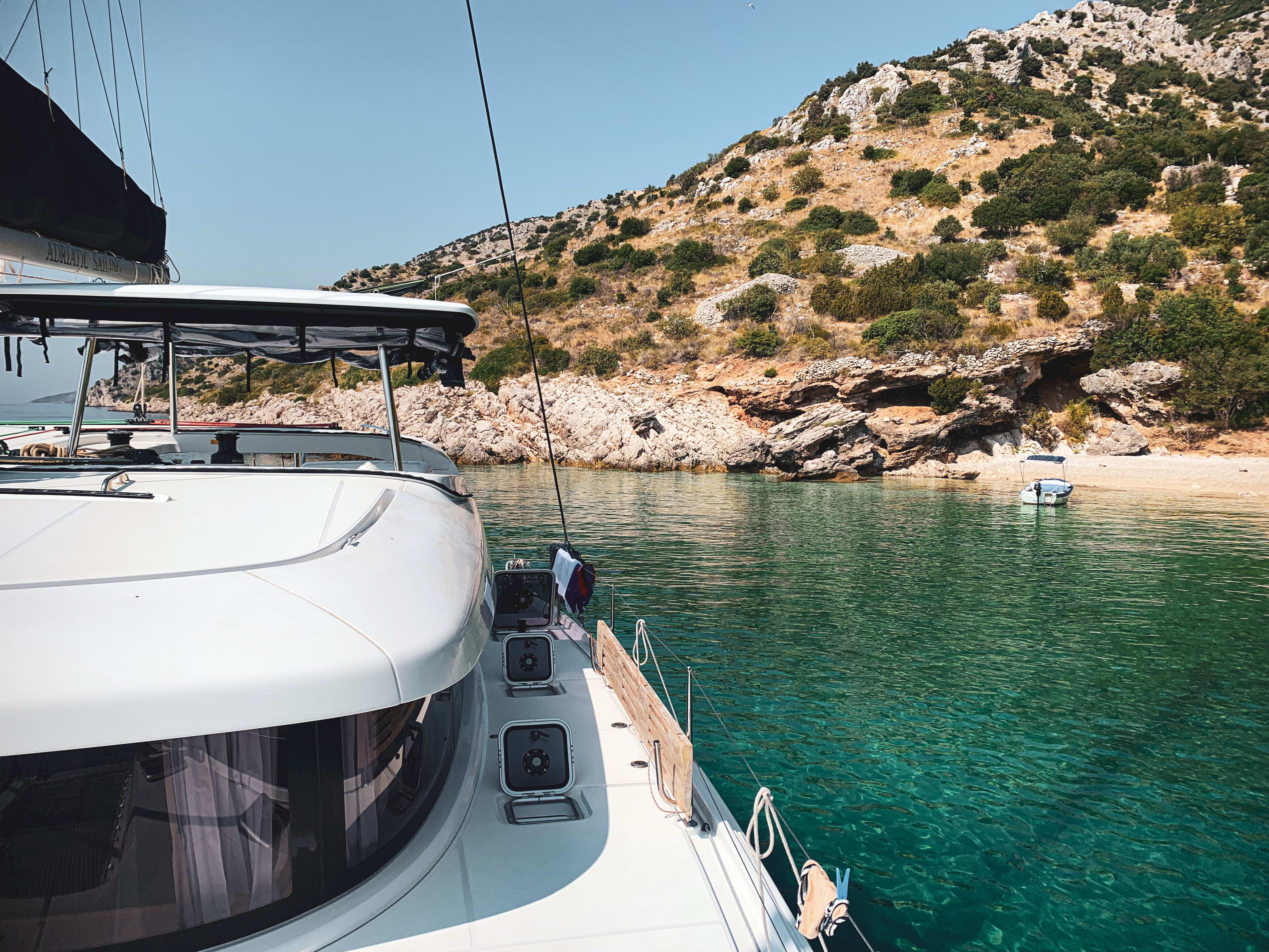 rented catamaran in Croatia