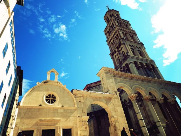bell tower diocletian's palace split croatia