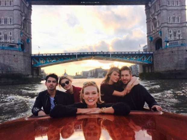 Taylor Swift, Karlie Kloss, Gigi Hadid on a superyacht