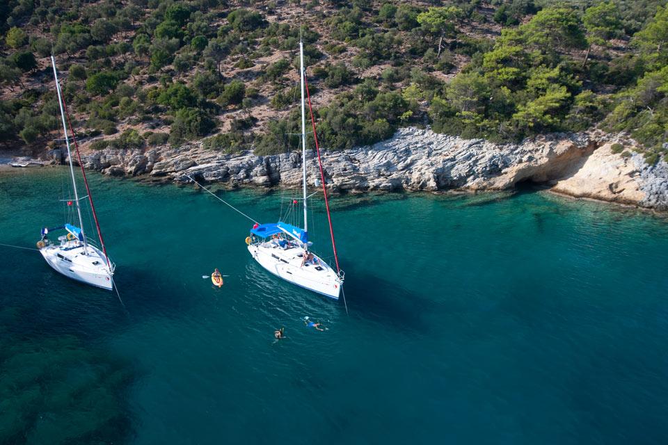 Sailing in Kazikli Turkey